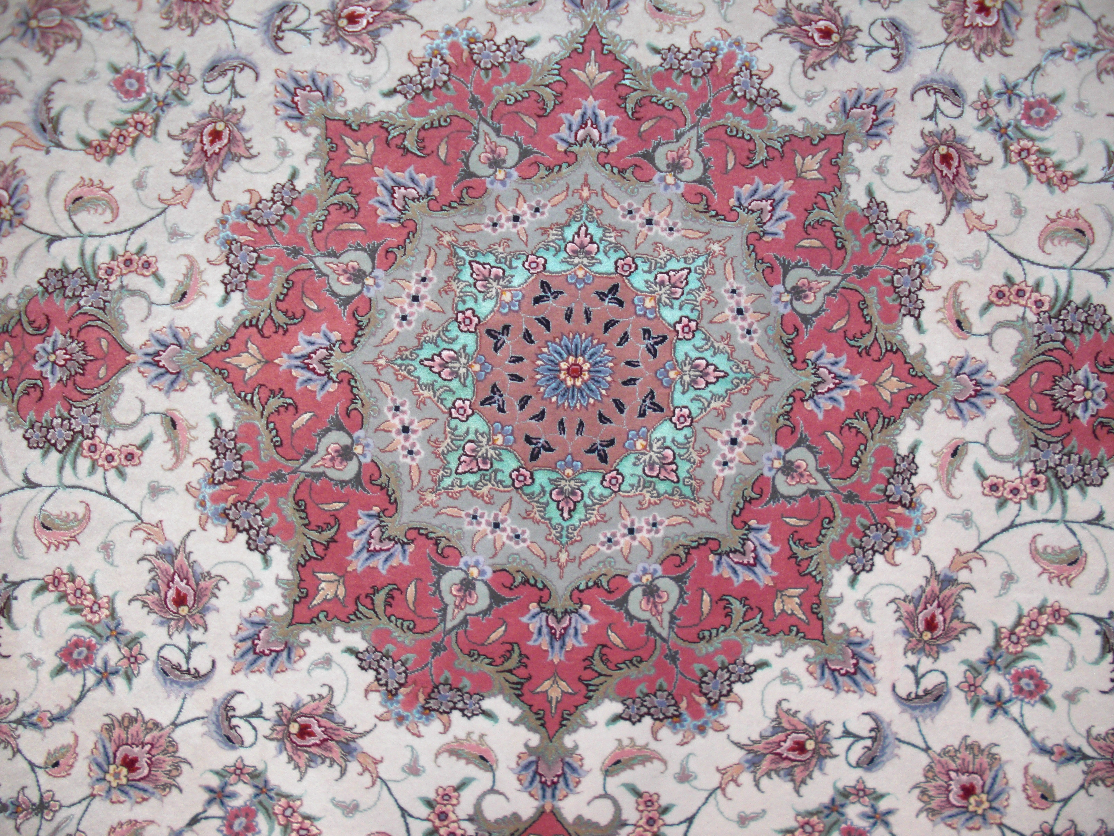 Alfombra tabriz redonda alfombras y kilims persas for Alfombras persas redondas